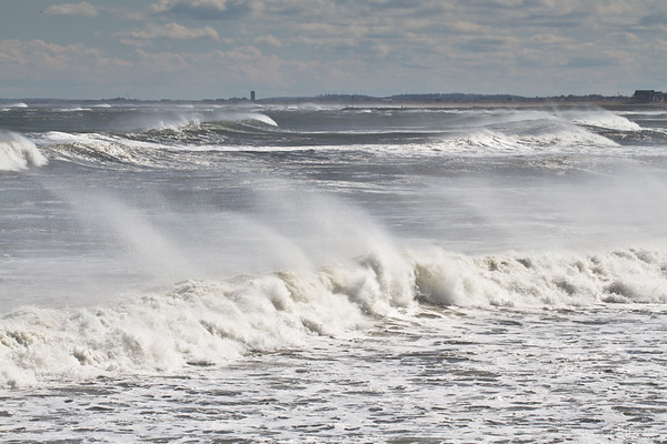 crashing waves, New Hampshire coast