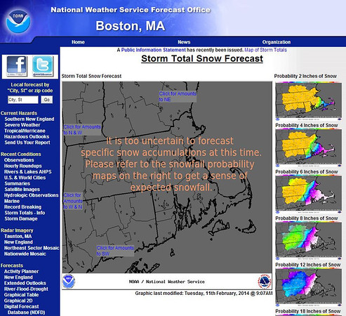uncertain snowfall predictions